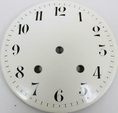 "Original Antique 7.5"" Diam Enamel Porcelain Regulator Longcase / Wall Clock Dial"