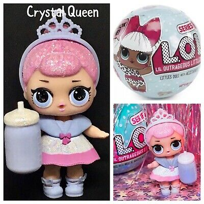 LOL Surprise CRYSTAL QUEEN Series1 Doll L.O.L. COMPLETE Authentic NEW Sealed Acc