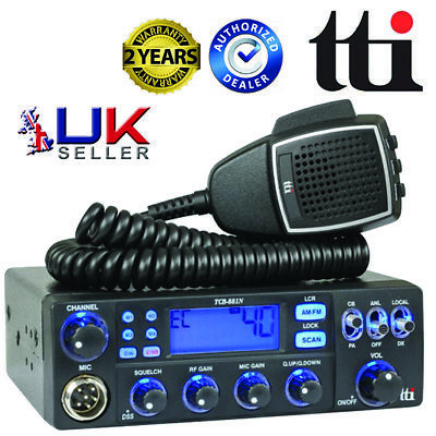 TTI TCB-881 Mobile Multi-Standard CB Radio For UK And EU Bands & 80 UK Channels