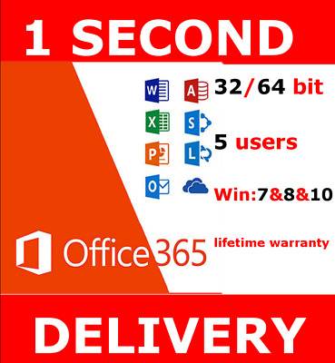 INSTANT Microsoft Office 365 2016 2019 Pro Key PC  Instant Delivery 30sec