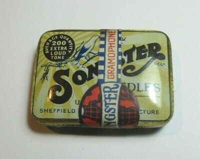 Vintage Gramophone Needles Tin  Full Seal Songster 200 Extra Loud Tone