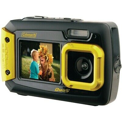 Coleman 2V9WP-Y 20.0-Megapixel Duo2 Dual-Screen Waterproof Digital Camera (Yello