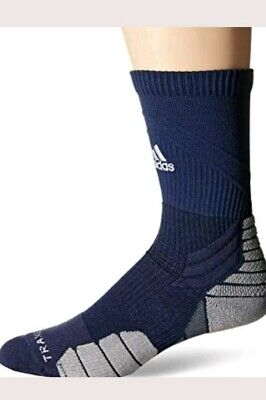 848468126 Adidas Traxion Menace Climalite Football/Basketball Crew Sock Men's L  9.5-12 NEW