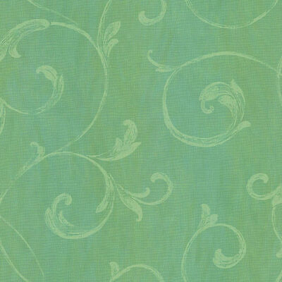 Gibby Aqua Leafy Scroll Wallpaper by Chesapeake  CHR11665  per Double Roll