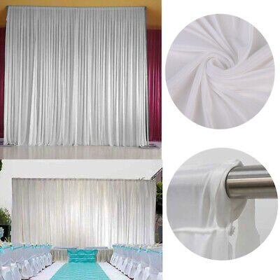 3M*3M Stage Wedding Photography Background White Screen Backdrop Drape Curtains