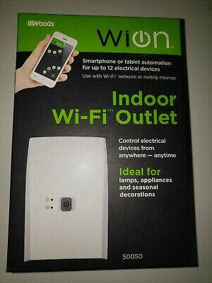 NEW WION 50050 Indoor Wi-Fi Outlet, Wireless Switch, Programmable