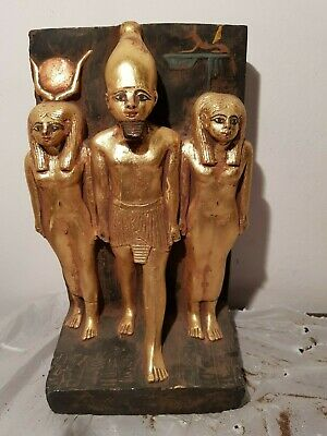 Rare Antique Ancient Egyptian Statue King Menkaure Goddess Hathor Isis 2530 BC