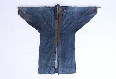 Original Boro Indigo patchwork Sashiko Japanese jacket coat probably 1800s Japan