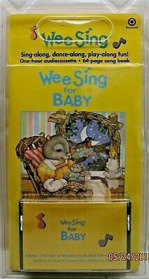 NEW WEE SING FOR BABY Audio Cassette & Book GAMES Lullabies LYRICS  Sing-Along