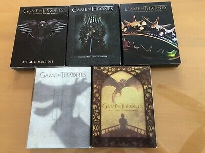 Game of Thrones Complete Seasons 1 -5 DVD 50 Episodes 1 ,2, 3, 4, 5 HBO 5 Disc @