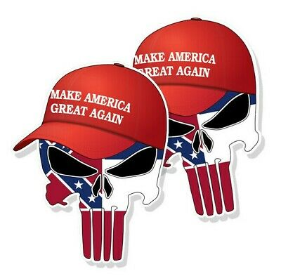 "TRUMP PUNISHER STICKERS Mississippi State Flag MAGA Hat Decals - 3"" tall 2-pack"