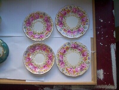 Royal Albert Serena 2 bread and butter 2 saucers rd no 839329