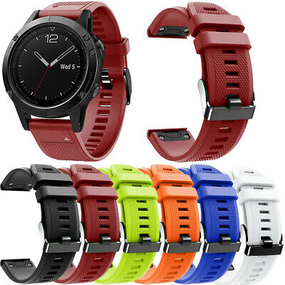 Replacement Soft Silicone Watch Wirstband Strap Band For Garmin Fenix 5X Plus A