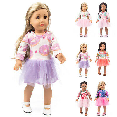 """Fits 18"""" inch Cute Doll Girls Doll Handmade Fashion Doll Clothes Dress Outfit"""