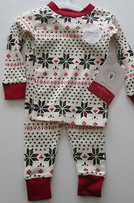 Burt's Bees Baby Family Jammies Pajama Set-Tee/Pant-Snowflake-Infant 3-6 M or 2T