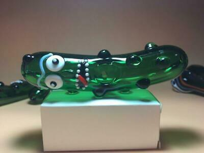 Funny Pickle Rick Glass Pipe glass Bong Smoking Pipe glass bowl hookah 55