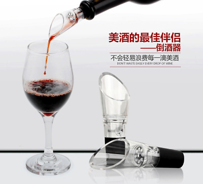 Mini Decanter Red Wine Aerator w Filter Air intake Pour Pourer Aerating Stopper