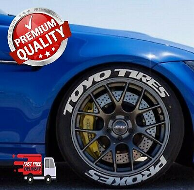 """Toyo tires Proxes permanent Tire Lettering Stickers 14""""-22"""" Tyre Decal Set 1.25"""""""