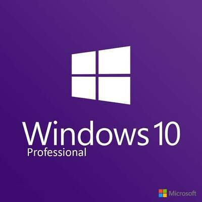 Microsoft Windows 10 Pro Professional 32/64 bit Activation License Key Code