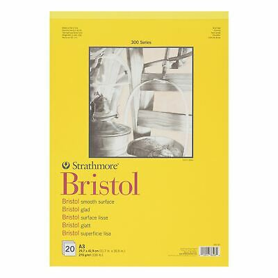 Bristol Smooth paper pad A3 20 sheets 270gsm Strathmore 300 sketching