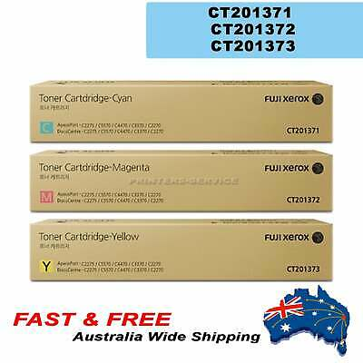 Genuine Fuji Xerox CMY Toner Set CT201371 CT201372 CT201373