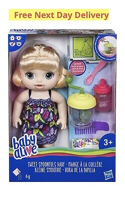 Baby Alive Sweet Spoonfuls Blonde Baby Doll Girl Free Next Day Delivery