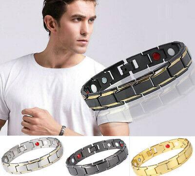 Stainless Steel Magnetic Therapy Bracelet Therapeutic Energy Healing Bracelet