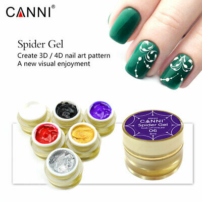 Canni 3D Draw Painting Spider Gel Easy Apply Nail Art Design Soak off UV LED