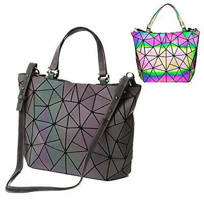 bolsos de cuero de la PU de Luminous Luminous geométricos Shtic Lattice Bolso