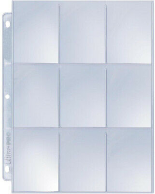 9-Pocket Silver Series Page Protectors for Standard Sized Cards (50 pack)