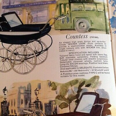 Pedigree 1965 coachbuilt Pram catalogue ; Copy from archive original