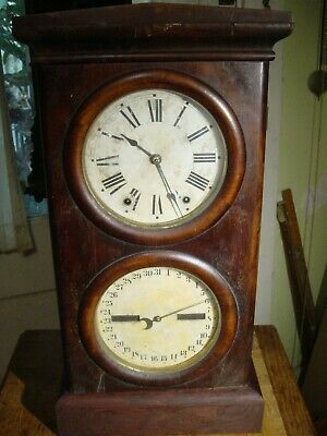 Antique Rare Seth Thomas 1875 Parlor Calendar No. 3 Shelf Clock Working Well