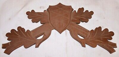 """Vintage Wood Hunters Cuckoo Clock Parts Top Topper Trim 13 3/4"""" AS IS for parts"""