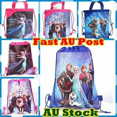 Frozen Bag Elsa Anna Olaf Drawstring Library Swimming Bag Birthday Lolly Bag