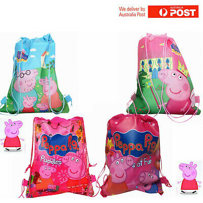 Peppa Pig Bag Library Bag Drawstring Bag Kids Bag Party Bag Birthday Lolly Bag