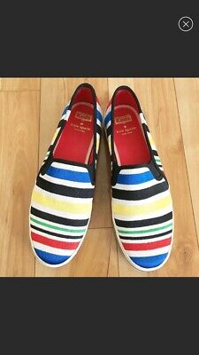 968a9f222206 Keds Kate Spade New York Size 9.5 Striped Multi Color Slip-on Sneakers Flat  Shoe