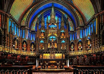 26x38cm 300-piece jigsaw puzzle prayer of the Cathedral of Notre Dame Canada