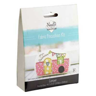 Fabric Editions Needle Creations Pincushion Kit Camper Free Postage