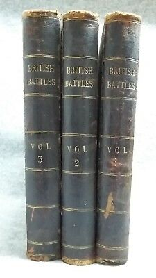 British Battles On Land and Sea by James Grant in 3 Volumes 1880's Illustrated