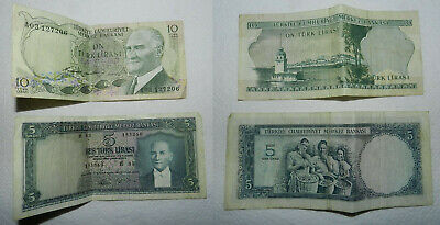 2 OLD TURKEY BANKNOTES - 1960's