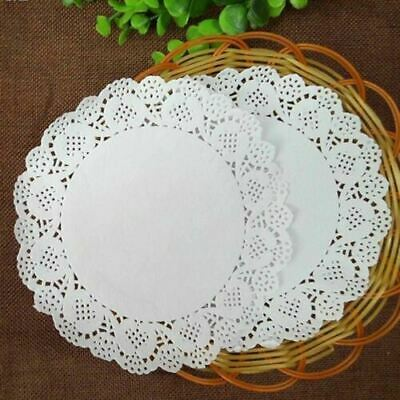 80pack-Round White Paper Doily Lace Doilies  Wedding Cake Presentation Coasters