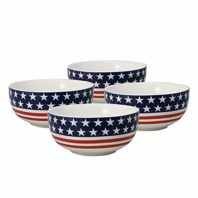 Pfaltzgraff  Set of 4 American Flag Soup Cereal Bowls
