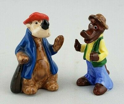 Vintage Miniature Disney Brer Bear Brer Fox Figurines