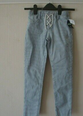 Gap Girls AGE 10 HIGH STRETCH ANKLE LENGTH JEGGINGS/JEANS  BLUE & WHITE MRP £27