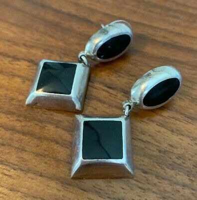 925 Mexico Sterling Earrings! Old Vintage Antique~~