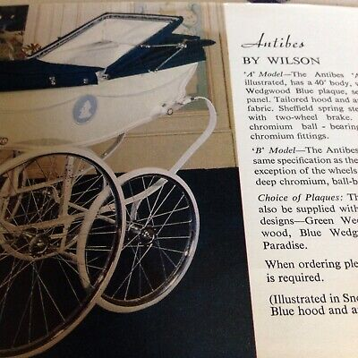 Silver Cross  Wilson 1966 Coach built Pram History ; Copy from archive original