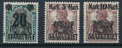[53054] Saar 1921 good set MNH Very Fine stamps $45