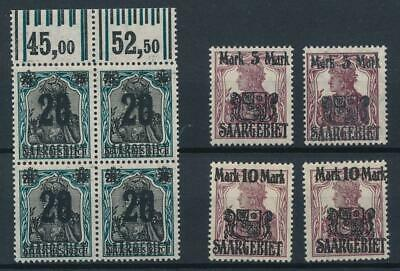 [53056] Saar 1921 good lot MH Very Fine stamps