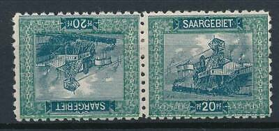 [53060] Saar 1921 Very good Tête-bèche pair perf.10.5 MH VF Signed stamps $200