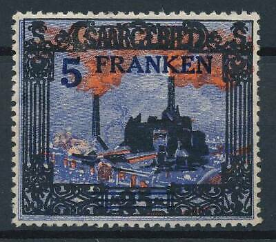 [53061] Saar 1921 good MH Very Fine overprinted stamp $35